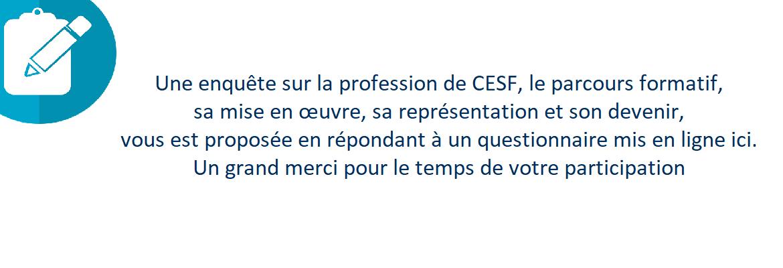 Enquête formation C.ESF