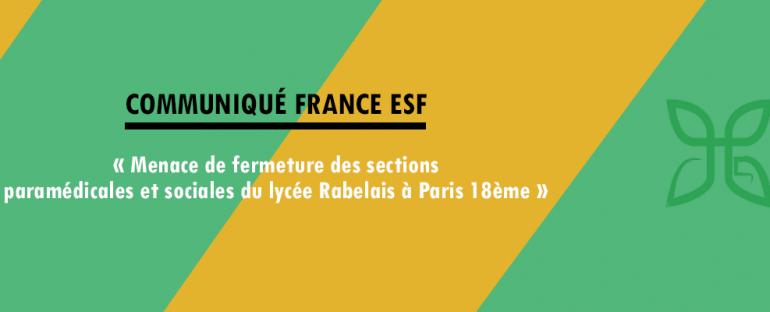 Communiqué France ESF – Lycée Rabelais