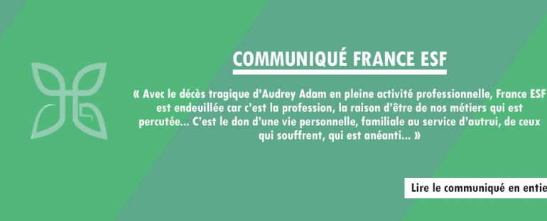 Audrey Adam – Communiqué de France ESF